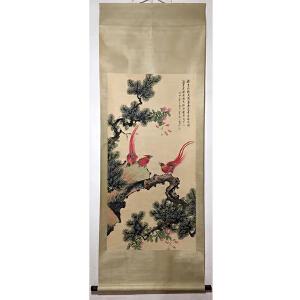 民国时期京津画派著名的花鸟画家 颜伯龙《花鸟》PYQ