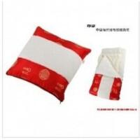 维康竹炭 中国福绸缎毛绒毯子 床单抱枕被子靠枕