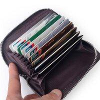Yvonge韵歌风琴式牛皮拉链卡包真皮短款卡套卡片包男女款名片包银行卡套*夹