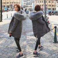 新款羽绒服羽绒服女2018冬季新款韩版中长款加厚超大加厚真毛领大衣潮