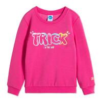 361度童装 女小童童卫衣儿童2020冬季女童套头卫衣潮款长袖上衣洋气圆领卫衣K61844302