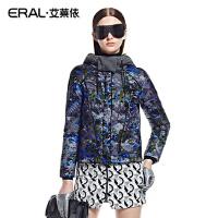 ERAL/艾莱依冬装轻薄立领女修身短款休闲羽绒服韩版连帽2040D