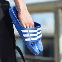 adidas阿迪达斯男子拖鞋2018新款一字拖沙滩拖休闲运动鞋G14309