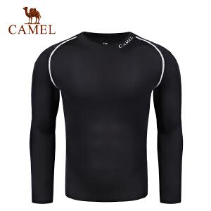 camel骆驼男款运动长袖紧身衣 健身健美速干透气瑜伽服