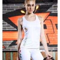 休闲百搭 舒适透 女士瑜伽服上衣 运动跑步速干无袖工字修身弹力健身服背心 吸湿排汗 气 支持礼品卡