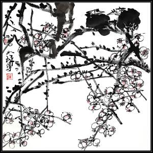 【美籍华人,著名书画家、鉴赏家 崔如琢《花鸟3》LL347】