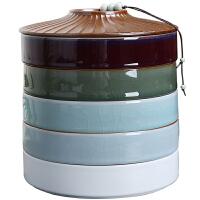 茶�罐多�悠斩�茶密封罐五子�收�{茶�~罐茶�盒大容量存茶盒