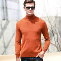 秋冬男高领山羊绒衫纯色圆领套头羊绒衫加厚打底针织衫大码毛衣潮