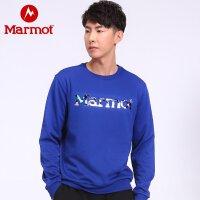 【开学季】Marmot/土拨鼠运动休闲舒适男女情侣款绒圆领卫衣