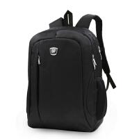 沐阳MYA03笔记本电脑背包商务休闲双肩包男女大中学生书包户外旅行包电脑包14英寸多功能双肩包时尚笔记本双肩背包黑色
