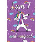 预订 I am 7 and Magical: Cute unicorn happy birthday journal