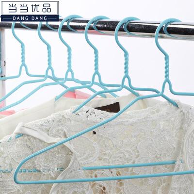 当当优品 浸塑加粗防滑衣架 干湿两用防风晒晾衣架 10只装 当当自营 加粗材质 不易变形