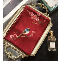 女神气质杭州丝绸女士刺绣围巾长款 苏绣丝巾 围巾披肩礼盒装礼品