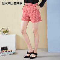ERAL/艾莱依高腰阔腿短裤2018夏季新款女士韩版宽松显瘦休闲裤667C321009