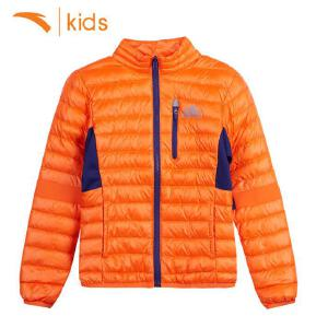 安踏男童羽绒服短款外套儿童上衣秋冬季白鸭绒童装轻薄暖35746910