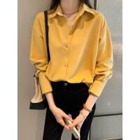 灯芯绒衬衫女2021春秋新款设计感小众上衣宽松长袖叠穿衬衣打底衫