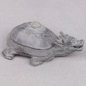 高要区端砚协会副会长 钟湛良作品《长寿龟》摆件