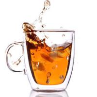Heisou 双层玻璃杯 创意透明茶杯 定制啤酒杯耐热花水茶杯子 饮料杯 HB-17-6