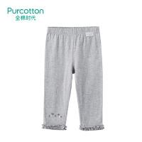全棉时代 花灰幼儿女款针织打底裤1件装