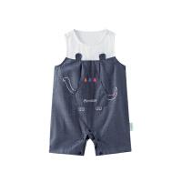 全棉时代婴儿针织无袖连体服宝宝衣服