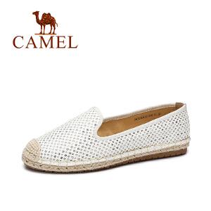 Camel/骆驼女鞋  秋季新品 轻便透气平跟单鞋圆头休闲鞋女鞋