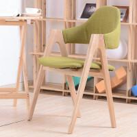 幽咸家居休闲椅子实木腿 水曲柳 餐椅 软包 亚麻布 咖啡椅 餐椅 时尚简约风格椅子【支持礼品卡支付】