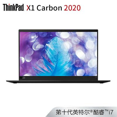联想ThinkPad X1 Carbon 2020(0RCD)14英寸轻薄笔记本电脑(i7-10510U 16G 512SSD FHD)沉浸黑 【新品】轻薄便携,支持WIFI6,秒速唤醒,