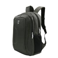 沐阳MYA03笔记本电脑背包商务休闲双肩包男女大中学生书包户外旅行包电脑包14英寸多功能双肩包 时尚笔记本双肩背包 灰色
