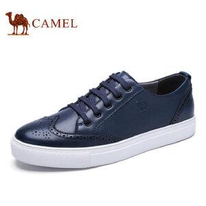 【领券下单立减111元】camel骆驼男鞋 新品 英伦布洛克雕花牛皮男鞋透气运动板鞋