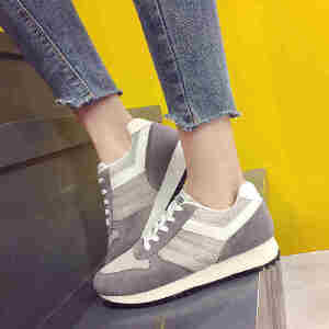 ELEISE美国艾蕾莎新品060-77-1休闲磨砂反绒皮女士网面鞋