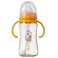 【当当自营】日康 PPSU宽口有柄自动奶瓶300ml RK-3170(颜色随机) 新旧替换中