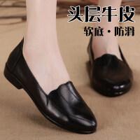 2019妈妈鞋单鞋女鞋软底防滑大码平底舒适中年女士鞋