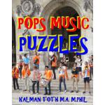 预订 Pops Music Puzzles: 133 Large Print Music Themed Word Se