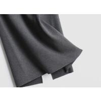 毛线裙包臀开叉半身裙秋冬针织一步裙中长款大码侧开叉裙高腰长裙 S码 75厘米长