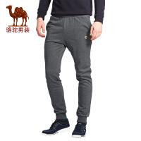 骆驼男装 休闲裤小脚裤男运动裤长裤子韩版潮流修身卫裤收口
