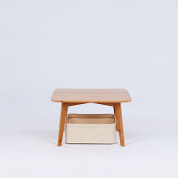 当当优品 橙舍简约竹家具创意日式榻榻米小茶几休闲方桌飘窗矮桌子边角几 不带坐垫