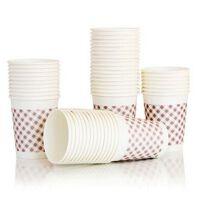 得力9570 250ml加厚纸杯 一次性纸杯 不易变形 50只装