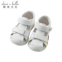 戴维贝拉夏季新款女童卡通凉鞋宝宝关键鞋DB10254