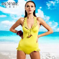 【儿童节】范德安时尚显瘦泳衣女 遮肚修身度假温泉连体游泳衣