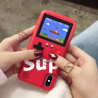 复古游戏机XSMAX充电式女款iphonex手机壳iphone8plus苹果x黑色8网红抖音iphone7网红同款8P