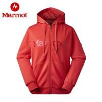 Marmot/土拨鼠秋冬款户外透气连帽男保暖长袖休闲卫衣