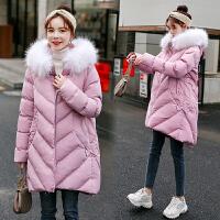 2019新款中长款孕妇棉衣冬装外套时尚保暖大衣冬季加厚棉袄