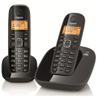 【包邮免运费】Gigaset 集怡嘉 西门子A180数字无绳电话套装 子母机 黑色