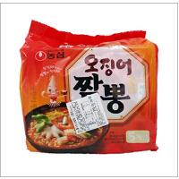 韩国进口食品 农心 辣味鱿鱼面墨斗鱼大杂烩面煮面124*5连包