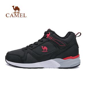 camel骆驼男款跑步鞋 耐磨防滑系带高帮时尚男跑鞋