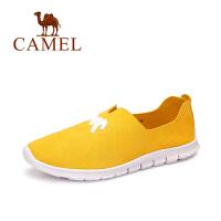 Camel骆驼女鞋 秋季新品 简约平底舒适圆头单鞋卡通贴甜美乐福鞋