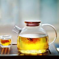 北斗正明大茶壶过滤泡茶壶玻璃加厚加热花茶壶耐高温竹盖壶茶具1000ML