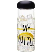 创意柠檬杯带盖玻璃水杯大容量玻璃杯便携学生花茶杯随手杯子