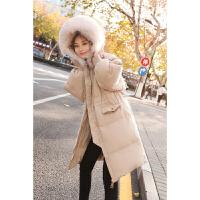 毛领达标羽绒服女中长款2018冬季新款韩国同款潮流情侣款时尚韩版修身显瘦羽绒服外套女