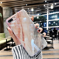 韩风珊瑚大理石纹苹果X/XR/XsMax手机壳iPhone8/7/6s/plus镭射蓝光保护套软